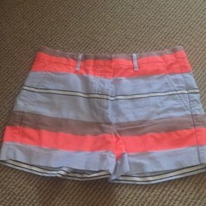 Striped chino shorts